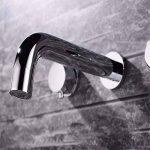 LHbox Lavabo Vasque Mitigeur Robinet l'eau Chaude et Froide en cuivre dans Le Bassin d'encastrement Mural Double-Double-Vasque lavabo Robinet Meuble de Salle de la marque LHbox Tap image 2 produit