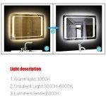 LUVODI Miroir Mural Lumineux 60 x 80cm Salle de Bain avec Interrupteur Tactile Miroir LED sur Mesure Anti-Buée 3 Mode Lumière Montage Horizontal pour Maquillage Chambre Maison de la marque LUVODI image 1 produit