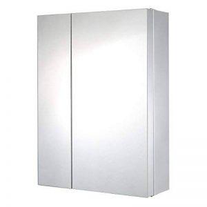 Lyndan-Grand miroir mural en acier inoxydable double porte Armoire de salle de bain avec 2grandes étagères et 3plateaux de la marque Lyndan image 0 produit