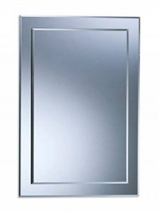 Magnifique miroir de salle de bain rectangulaire, moderne et élégant, double couche de verre, taillé en biseau, mural 70CM X 50CM de la marque Neue Design image 0 produit
