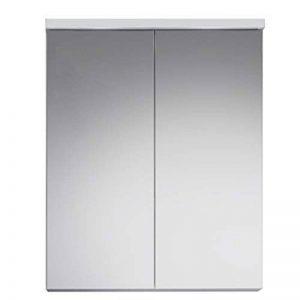 Maisonnerie 1320-503-01 Nightlife Armoire Placard avec Miroir de Salle de Bain Blanc/Blanc Ultrabrillant, LED non inclus, 65 x 80 x 21 cm de la marque Maisonnerie image 0 produit