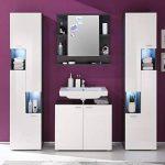 Maisonnerie 1330-403-21 Meuble Salle de Bain Miroir Armoire Murale Tetis Graphite Décor LxHxP 72x76x20 cm de la marque Maisonnerie image 2 produit