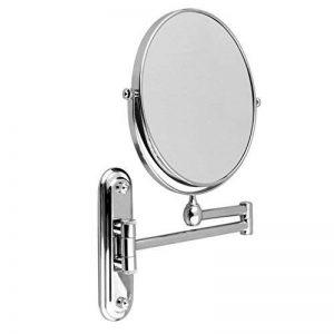 Malayas 8 Pouces Miroir Maquillage Mural Double Face Grossissant X 10 Miroir Cosmétique Extension et Pliant Pivotant en Chrome Miroir pour Salle de Bain Rasage et Soin de Peau SPA Hôtel de la marque Générique image 0 produit
