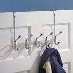 mDesign patère – 10 crochets muraux pour la porte dans le couloir ou la salle de bains – porte-manteau mural idéal pour les manteaux, vestes, peignoirs, serviettes – couleur chrome de la marque MetroDecor image 1 produit