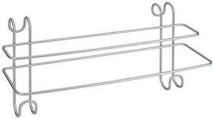 Metaltex 40380239080 RADIUS Porte serviettes double avec 2 Crochets Métal Argent 14,5 x 39 x 20 cm de la marque Metaltex image 0 produit