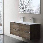 Meuble de salle de bains avec double lavabo ensemble de 2-pièces, Vasque et meuble sous vasque , Vanessa120 noyer foncé de la marque image 1 produit