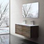 Meuble de salle de bains avec double lavabo ensemble de 2-pièces, Vasque et meuble sous vasque , Vanessa120 noyer foncé de la marque image 2 produit