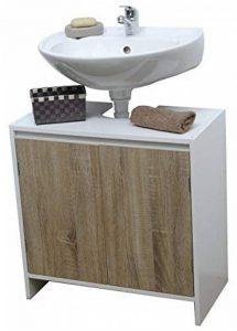 Meuble Dessous de lavabo ou Evier - 2 Portes et 1 étagère - Style scandinave de la marque TENDANCE image 0 produit