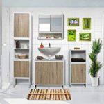 Meuble Dessous de lavabo ou Evier - 2 Portes et 1 étagère - Style scandinave de la marque TENDANCE image 2 produit