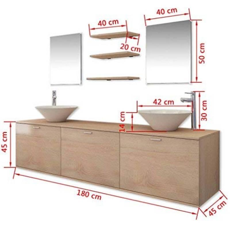 2 étagères 2 armoires murales 2 miroirs 2 lavabos et 2 ...