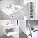 meuble salle de bain blanc laque 80 cm TOP 4 image 1 produit