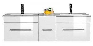 meuble salle de bain bois double vasque TOP 1 image 0 produit