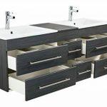 meuble salle de bain bois double vasque TOP 2 image 3 produit
