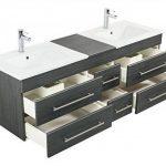 meuble salle de bain bois double vasque TOP 2 image 4 produit