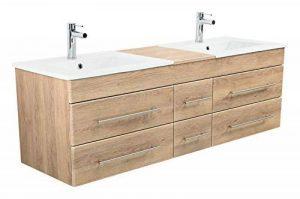 meuble salle de bain bois double vasque TOP 3 image 0 produit