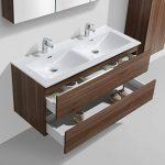 Meuble Salle de Bain Design Double Vasque Siena Largeur 120 cm, Noyer de la marque Le Monde du Bain image 3 produit