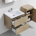 Meuble Salle de Bain Design Simple Vasque Siena Largeur 60 cm, chêne Clair de la marque Le Monde du Bain image 4 produit