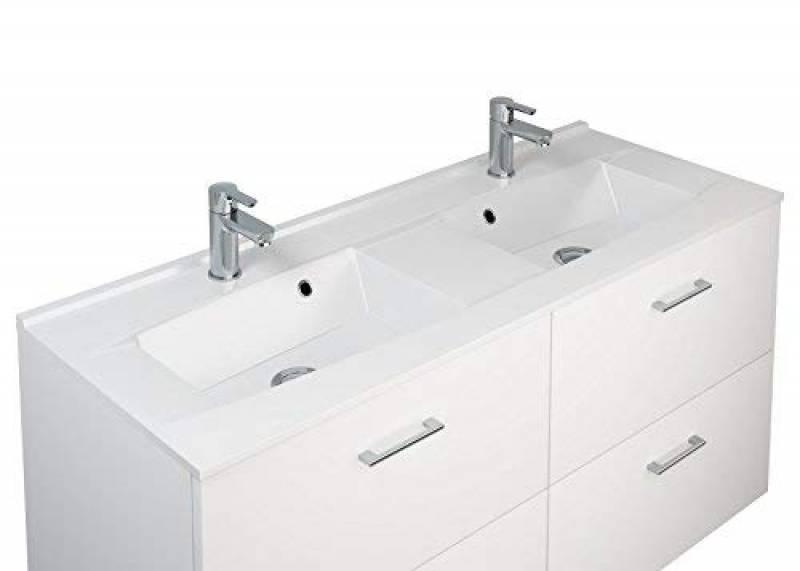 Meuble salle de bain double vasque avec miroir choisir - Meuble bas salle de bain sans vasque ...