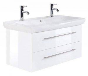 Meuble SDB avec vasque de Keramag IT! 100 cm à double vasque blanc billiant de la marque Emotion image 0 produit