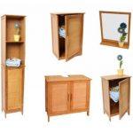 Meuble sous lavabo, salle de bains, bambou, 60x30x62cm de la marque Mendler image 1 produit
