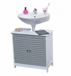 Meuble sous lavabo type persienne gris collection PASSION de la marque TENDANCE image 0 produit