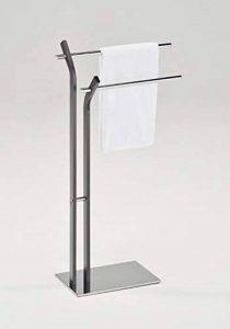 Meubletmoi Porte-Serviette sur Pied 2 Barres Supports métal chromé - Rangement Salle de Bains Design - Twin de la marque Meubletmoi image 0 produit