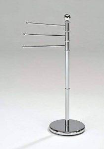 Meubletmoi Porte-Serviette sur Pied 3 Barres Supports rotatifs métal chromé - Rangement Salle de Bains - POULPY de la marque Meubletmoi image 0 produit