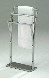 Meubletmoi Porte-Serviette sur Pied 3 Supports métal chromé - Rangement Salle de Bains Accessoire - Cleo de la marque Meubletmoi image 0 produit
