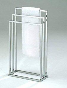 Meubletmoi Porte-Serviette sur Pied 3 Supports métal chromé - Rangement Salle de Bains - Chronos de la marque Meubletmoi image 0 produit