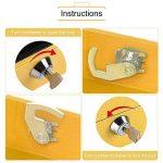 Mini Coffre de Sécurité Coffre-fort Boîte de Rangement pour Médicaments Boîte à Billets en Acier Inox avec des Clés 15 x 12 x 7,5 CM ( Couleur : Jaune ) de la marque Yosoo image 2 produit