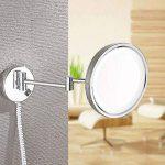 Miroir cosmétique de 8/10 pouces 21 LED Miroir lumineux de salle de bains Miroir Miroir de maquillage double face Miroir grossissant de vanité 3X / 1X monté au mur, extensible pour salle de bains de la marque GAOLIQIN image 1 produit