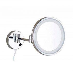 Miroir cosmétique de 8/10 pouces 21 LED Miroir lumineux de salle de bains Miroir Miroir de maquillage double face Miroir grossissant de vanité 3X / 1X monté au mur, extensible pour salle de bains de la marque GAOLIQIN image 0 produit