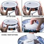 Miroir Cosmétique LED avec Grossissement 10X et Plateau Bijouterie - Luminosité Réglable - Finition Chrome, Construction Métal/Verre de la marque BonuMart image 4 produit