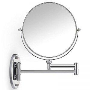 Miroir de courtoisie mural Cosprof pour salle de bain - Avec agrandissement x 10 - Bi-face - 20,3cm - Avec pivot - Extensible - Avec finition en chrome de la marque Cosprof image 0 produit
