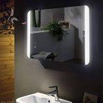 -Miroir de salle de bain avec éclairage LED et chauffage électrique anti-buée, pieds 60x80cm, montage horizontal et vertical, miroir de salle de bain éclairé en haut et en bas, classe énergétique A+ de la marque HOKO Spiegel image 1 produit
