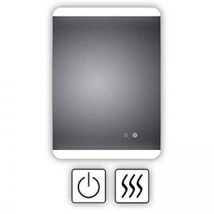 Miroir de salle de bain lumineux à LED avec chauffage électrique intégré anti-buée, 50x 70cm, montage horizontal et vertical possible, lumière en haut et en bas, classe énergétique A+, instructions de montage (français non garanti) de la marque HOKO S image 0 produit