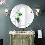Miroir de salle de bains HD anti-déflagrant rond miroir sans cadre Miroir de courtoisie mural (taille : 70cm) de la marque Bathroom mirror image 3 produit