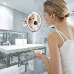 Miroir Grossissant Miroir Maquillage - 10X a grossi la vanité de maquillage, miroir cosmétique illuminé de couleur de lumière du jour,Ventouse d'Attache Ajustable à 360 Miroir Éclairé Portable, Lumineux LED De Voyage avec Verrouillage Ventouse, Miroir de image 1 produit