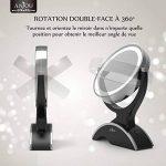 Miroir Lumineux Grossissant 7x Anjou, Miroir Maquillage Portable, Double Face, Rotation 360°, Aspect Vintage Argent/Noir, Amovible et Alimenté par 3x Piles AA Gratuites de la marque Anjou image 3 produit