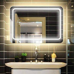 sur Mesure LED Lumineux Miroir avec /Éclairage int/égr/é L68 FORAM Moderne Miroir avec LED Illumination Salle de Bain avec Accessoires