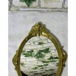 Miroir à main Miroir grossissant en laiton poli baroque style antique miroir Ange de la marque Gr image 2 produit