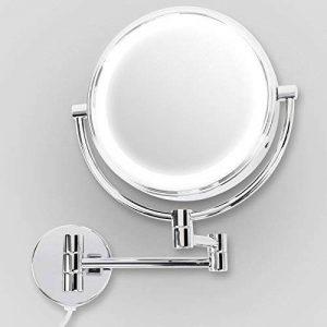 Miroir mural casa pura® avec LED| Rotation 360° | montage facile | 3 degrés de grossissement - 7x de la marque casa pura image 0 produit