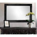 Miroir Noir Mat - Shabby Chic Miroir Baroque orné - Taillé Artisanalement - Matériau et Design Premium - Grand 90x60 cm - Noir de la marque Rococo by Casa Chic image 2 produit