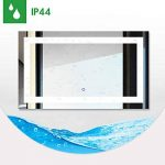 Miroir Salle de Bains avec éclairage Tonffi 25W HD Image étanche Miroir LED Éclairage Intégré Miroirs Cosmétiques Muraux Lumière Blanche étanche (100*60cm) de la marque Tonffi image 2 produit