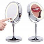 Miroir Tactile éclairage led sur pied, double face grossissant x1x10 de la marque Lanaform image 1 produit