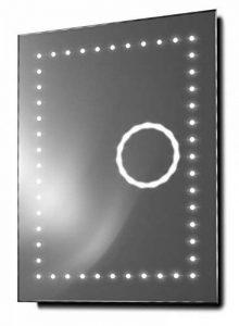 Miroirs lumineux Eclipse Rasoir Grossissement 3x Miroir de salle de bain LED avec Anti-Buée et Capteur, argent de la marque Illuminated Mirrors image 0 produit