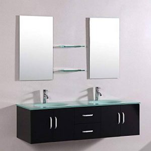Mon Usine Discount Le Cupidon Wengé : Ensemble salle de bain, 2 vasques 2 miroirs de la marque Mon Usine Discount image 0 produit