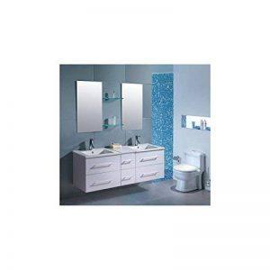 Mon Usine Discount Le Lagon Blanc : Ensemble salle de bain, 2 vasques 2 miroirs de la marque Mon Usine Discount image 0 produit