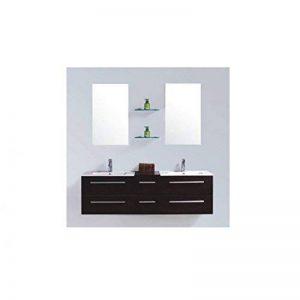 Mon Usine Discount Le Lagon Wengé : Ensemble salle de bain, 2 vasques 2 miroirs de la marque Mon Usine Discount image 0 produit