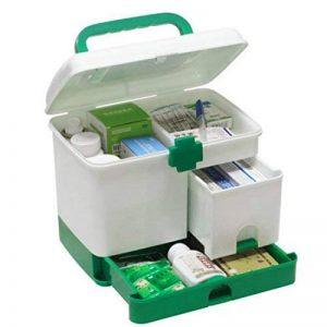 OviTop Boîte Pharmacie Portative à Main Portative de Boîte de Rangement de Médecine de Kit de Premiers Soins de Ménage de la marque OviTop image 0 produit